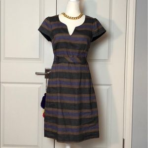 Boden striped dress with tie